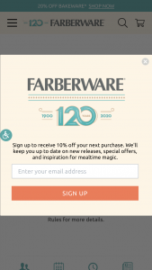Meyer – Faberware Dinner On Us – Win one (1) Farberware Limited Edition 120th Anniversary 10-Piece Cookware Set and (1) $100 gift card