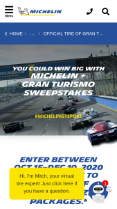 Michelin – Gran Turismo – Win a set of four MICHELIN Pilot Sport All Season 4 tires (or any other set of MICHELIN tires of equal or lesser value) One Thrustmaster (Model T-GT) Racing Wheel
