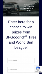 Michelin North America – 2020 Bfgoodrich Tires And World Surf League – Win (1) BFGoodrich Tires Certificate for (2) winners