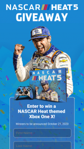 Motorsport Games – Nascar Heat 5 Xbox One X Giveaway – Win X and (2) a download code for NASCAR Heat 5 Gold Edition that can be redeemed in the Xbox Marketplace