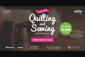 National Sewing Circle – Quilting And Sewing Fall 2020 – Win The Sulky Sewing and Quilting Dream Bundle (30 Wt