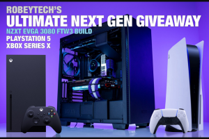 """NEWEGG – Robeytech Ultimate Next Gen Giveaway – Win One (1) $2800 Custom Gaming PC  One (1) $499.00 Xbox Series X console One (1) $499.99 PlayStation 5 console  Total approximate retail value (""""ARV"""") of all prizes offered $3798.99."""