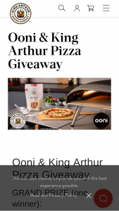 Ooni & King Arthur – Pizza Oven Giveaway Sweepstakes