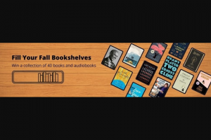 Penguin Random House – Fill Your Fall Bookshelves – Win 1 40 books & audiobooks (Prize Approximate Retail Value $1149)
