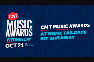 Premiere Networks – CMT Music Awards At-Home Tailgate Kit Giveaway Sweepstakes