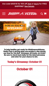 Radio Flyer – How Do You Roll Giveaway – Win a Radio Flyer product