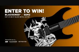 Revolver – Blackened American Whiskey – Win one custom Blackened x S&M2 ESP LTD M-HT Black Metal Guitar