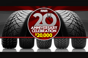 Rnr Tire – 20th Anniversary Giveaway Sweepstakes