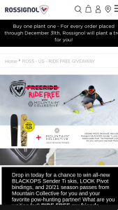 Rossignol – Ride Free With The Mountain Collective Sweepstakes