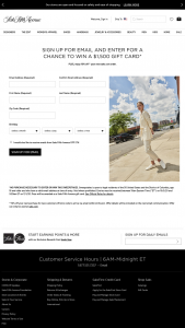 SAKS – Win A $1500 Shopping Spree – Win a $1500 SAKS Gift Card