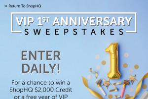Shophq Vip – 1st Anniversary Sweepstakes