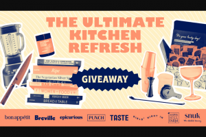 Taste Penguin Random House – Ultimate Kitchen Refresh Sweepstakes