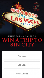 The Wine Group – The 7 Deadly Sin City – Win a three day two night trip for two people to Las Vegas Nevada