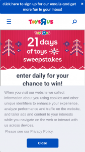 "Toys ""r"" Us – 21 Days Of Toys – Win a hot toy list toy to be selected by Toys ""R"" Us"