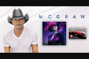 "Tunespeak – Win A $500 Texaco Gift Card From Tim Mcgraw  Signed Copy Of Here On Earth – Win One (1) $500 Texaco Gift Card and One (1) Signed copy of ""Here On Earth""."