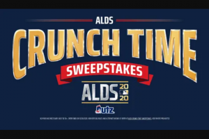 Utz Quality Foods – MLB Crunch Time Giveaway – Win a $200 MLBShopcom gift code and Utz snacks for one (1) year