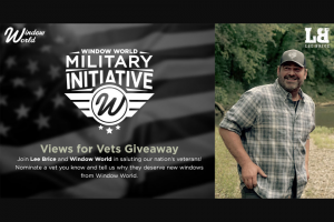 Window World – Views For Vets Contest – Win a houseful of replacement windows