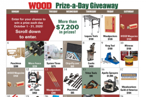 Wood Magazine – Prize-A-Day Giveaway 2020 Sweepstakes