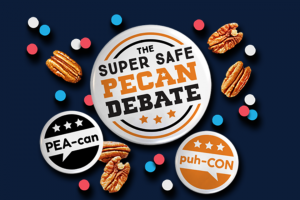 American Pecan – Super Safe Pecan Debate – Win a limited-edition pecan snacking blanket and prize pack that includes a button and pecan product