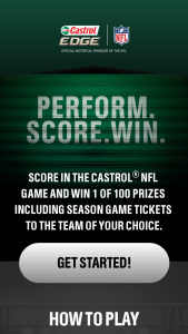 Bp Lubricants Castrol – Nfl Perform Score And Win – Win Prizes and (46) Second Prizes and (50) Third Prizes