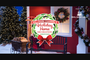 Crown Media Hallmark Channel – Holiday Home Decoration – Win one Balsam Hill Ornament Set ARV $120.00 each).