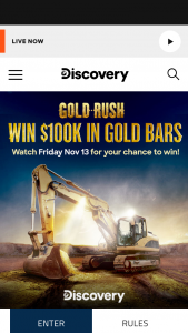 Discovery – Friday Gold Giveaway – Win the cash value of the Grand Prize
