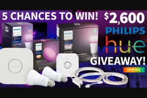 Do It Best Corp – $2600 Philips Hue Giveaway – Win 60W Dimmable LED Light Bulb Bluetooth Starter Kit Philips Hue Go Bluetooth LED Portable Smart Lamp Philips Hue 100 Deg