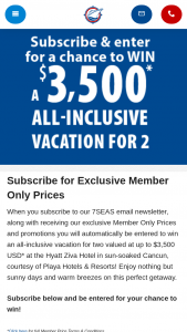 Expedia Cruises – Everywhere Under The Sun – Win one 7-night all-inclusive vacation for two persons to the Hyatt Ziva