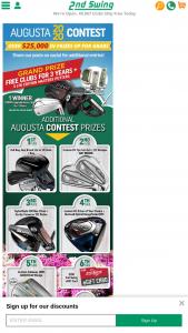 2nd Swing Golf – Augusta Georgia Contest – Win a $25 2nd Swing eGift Card