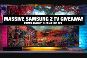 "NEWEGG – Massive Samsung 2 TV Giveaway – Win One (1) Samsung 85″ Class Q60T Series QLED 4K UHD HDR Smart TV (ARV $2497.99)  Total approximate retail value (""ARV"") of all prizes offered $4995.98."