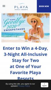 Playa – Goodbye 2020 Sweepstakes
