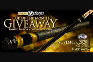 Viking Cues – November Cue Giveaway Sweepstakes