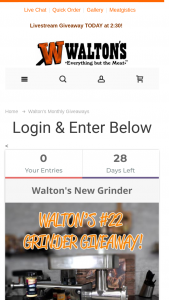 Walton's – November Giveaway Sweepstakes
