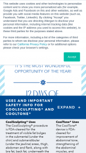 Allergan Coolsculpting – Holiday Sweepstakes