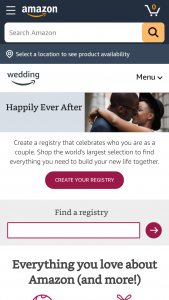 Amazoncom – Wedding Registry Customer Stories Contest – Win a registry curation consultation with an industry expert