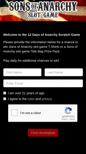 Aristocrat Technologies – 12 Days Of Anarchy – Win the Prize presented (subject to verification