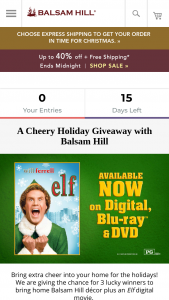 Balsam Hill – A Cheery Holiday Giveaway With Balsam Hill Sweepstakes