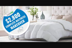 Bob Vila – $2800 Complete Mattress Makeover With Puffy – Win one (1) prize package from Puffy