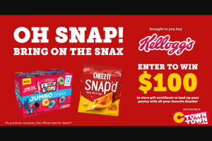 C-Town Supermarkets – Bring On The Snax With Kelloggs Sweepstakes