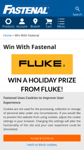 Fastenal – Fluke December 2020 Giveaway – Win be won includes all of the following (30 prize packs will be awarded)  One (1) Fluke Pack30 Backpack The approximate retail value of the each prize package is $200.00.