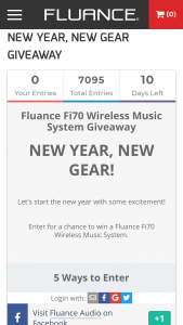 Fluance – New Year New Gear Giveaway – Win a Fluance Fi70 Three-Way Wireless High Fidelity Music System (ARV $599.99)