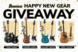 Ibanez – Happy New Gear Giveaway Sweepstakes