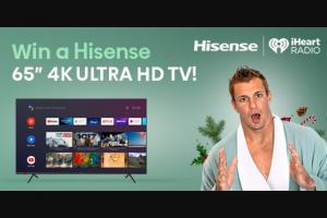 Iheartmedia – Iheartradio & Hisense Holiday Giveaway – Win one (1) Hisense