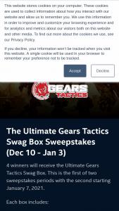 Intel Gaming Access – Ultimate Gears Tactics Swag Box – Win a Gears Tactics Swag Box