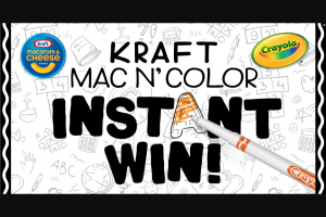 Kraft Heinz Foods – Kraft Mac N' Color Instant Win Game Sweepstakes