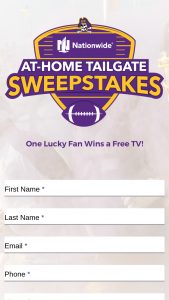 Nationwide – At-Home Tailgate – Win A New Free TV