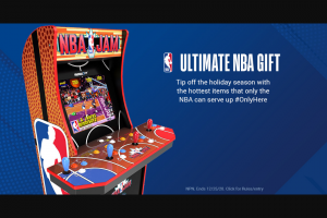 Nba – Ultimate Gift – Win via email within 4-6  weeks of the winner selection date