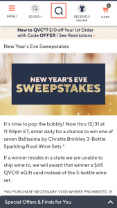 QVC – Bellissima Gift Card Giveaway – Win 3 bottles of Bellissima by Christie Brinkley Sparkling Wine or a $65 QVC eGift Card