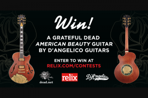 Relix – Grateful Dead American Beauty Guitar By D'angelico Guitars Sweepstakes
