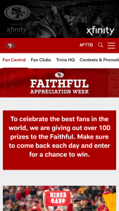 San Francisco 49ers – Fan Appreciation Sweepstakes